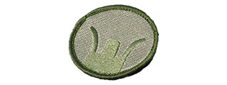 T1051-G MILITARY VELCRO PATCH - FRONT SIGHT (OD)