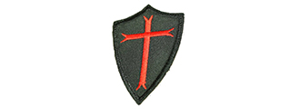 T1091-B POOR KNIGHTS VELCRO PATCH (BK)