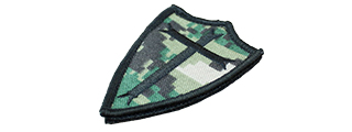 T1091-WD POOR KNIGHTS VELCRO PATCH (WOODLAND DIGITAL)