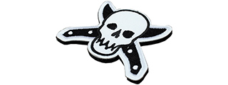 T1425-B KNIFE AND SKULL PATCH (BLACK)