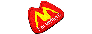 T1521-R I'M LOVING IT PATCH (RED)