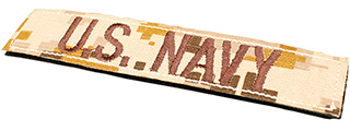 T1617-DD US NAVY VELCRO PATCH (DESERT DIGITAL)