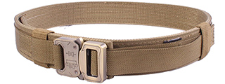 T1939-K-M HARD 1.5 INCH SHOOTER BELT (KHAKI), MED