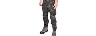 T2359MB-L BDU TROUSERS W/KNEEPADS (CAMO BLACK)
