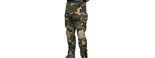 T2359W-S BDU TROUSERS W/ KNEEPADS - SMALL (WOODLAND)