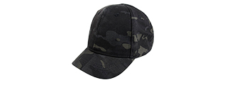 AMA ELASTIC BACK SHORT BASEBALL CAP - CAMO BLACK