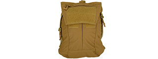 T2483CB ZIPPER PANEL BACKPACK (COYOTE BROWN)