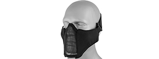 T2507B NYLON PDW MESH MERCENARY HALF MASK (BLACK)