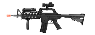 WELL MR799 PLASTIC M4 AIRSOFT SPRING RIFLE W/ TACTICAL ACCESSORIES (BK)