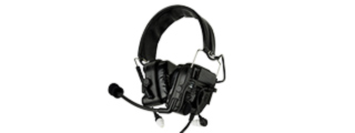 Z038B ZCOMTAC IV IN-THE-EAR RADIO HEADSET (BLACK)