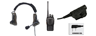 Z COMTAC II HEADSET + Z125KEN PTT + WALKIE TALKIE SET (FG)