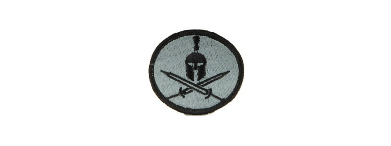 AC-114 ADHESIVE SPARTAN CROSS SWORDS PATCH (LIGHT BLUE)