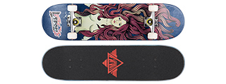 "3108-T025B RED HEAD BLUE COMPLETE SKATEBOARD (8.0"" X 31"")"