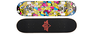 "3108-T033 WILD ANIMAL FACES COMPLETE SKATEBOARD (8.0"" X 31"")"