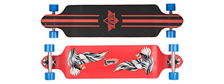 L-SPORTS RED SOARING BIRDS COMPLETE LONGBOARD