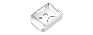 5KU-GB260-S ALUMINUM HI-CAPA MAG BASE COVER - TYPE 1 (SILVER)