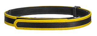 AC-402YL COMPETITION SPECIAL BELT (COLOR: BLACK & YELLOW) SIZE: LARGE