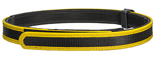 AC-402YM COMPETITION SPECIAL BELT (COLOR: BLACK & YELLOW) SIZE: MEDIUM
