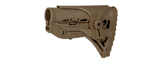 AC-404T M4AR-15 TACTICAL STOCK (COLOR: DARK EARTH)