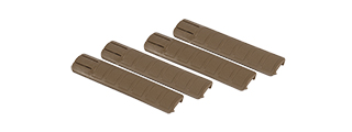 AC-422T TD STYLE RAIL COVERS 4PC SET (COLOR: DARK EARTH)