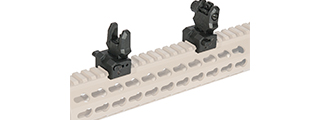 AC-440B ZAA FRONT & REAR BACK-UP SIGHT SET (COLOR: BLACK)
