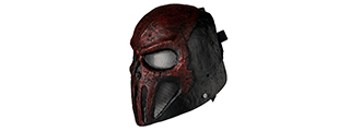 "AC-442 WIRE MESH ""SKULL PUNISHER"" MASK (COLOR: RED & BLACK)"