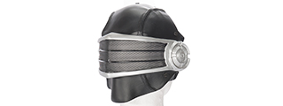 "AC-449 WIRE MESH ""SNAKE EYES"" MASK (COLOR: BLACK & SILVER)"
