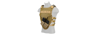 AC-590T TF3 HIGH SPEED AIRSOFT MAG STRAP BODY ARMOR (TAN)