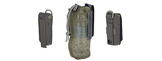 AC-617GY TACTICAL 1000D NYLON FOLDING WATER BOTTLE BAG II (GRAY)