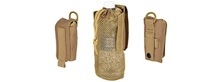 AC-617T TACTICAL 1000D NYLON FOLDING WATER BOTTLE BAG II (TAN)