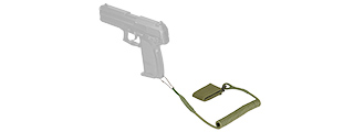 AC-637G WOSPORT MULTIFUNCTIONAL ACCESSORY PISTOL LANYARD SLING (OLIVE DRAB)