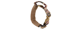 AC-638C WOSPORT REINFORCED NYLON DOG COLLAR W/ HANDLE (CAMO)