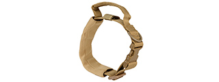 AC-638T WOSPORT REINFORCED NYLON DOG COLLAR W/ HANDLE (TAN)
