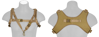AC-639T WOSPORT TACTICAL 1000D NYLON ONE-POINT SLING VEST (TAN)