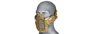AC-642C WOSPORT STEEL MESH NYLON LOWER FACE MASK (CAMO)