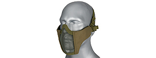 AC-642G WOSPORT STEEL MESH NYLON LOWER FACE MASK (OLIVE DRAB)