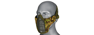 AC-642GZ WOSPORT STEEL MESH NYLON LOWER FACE MASK (GREENZONE)