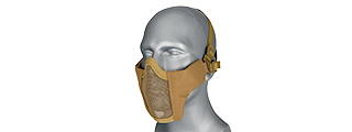 AC-642T WOSPORT STEEL MESH NYLON LOWER FACE MASK (TAN)