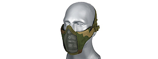 AC-642W WOSPORT STEEL MESH NYLON LOWER FACE MASK (WOODLAND)