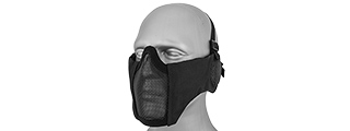 AC-643B TACTICAL ELITE FACE AND EAR PROTECTIVE MASK (BLACK)