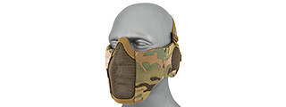 AC-643C TACTICAL ELITE FACE AND EAR PROTECTIVE MASK (CAMO)