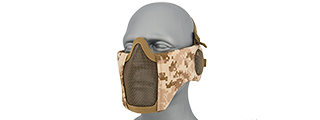AC-643DD TACTICAL ELITE FACE AND EAR PROTECTIVE MASK (DESERT DIGITAL)