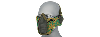 AC-643WD TACTICAL ELITE FACE AND EAR PROTECTIVE MASK (WOODLAND DIGI)
