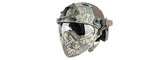 AC-689ACU WOSPORT TACTICAL PILOTEER BUMP HELMET MASK W/ ADAPTER (ACU)
