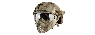 AC-689AT WOSPORT TACTICAL PILOTEER BUMP HELMET MASK W/ ADAPTER (AT)