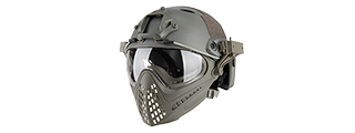 AC-689GY WOSPORT TACTICAL PILOTEER BUMP HELMET MASK W/ ADAPTER (GRAY)