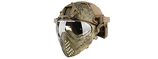 AC-689M WOSPORT TACTICAL PILOTEER BUMP HELMET MASK W/ ADAPTER (MAD)