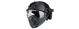 AC-689TP WOSPORT TACTICAL PILOTEER BUMP HELMET MASK W/ ADAPTER (TYP)