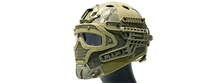 AC-820C WOSPORT TACTICAL G4 SYSTEM BUMP HELMET MASK W/ GOGGLES (CAMO)