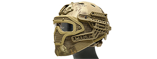 AC-820H WOSPORT TACTICAL G4 SYSTEM BUMP HELMET MASK W/ GOGGLES (HLD)